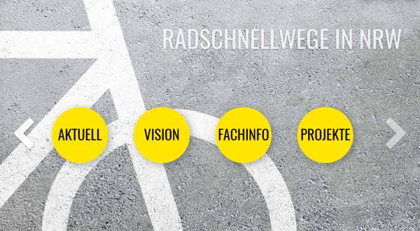 Neue Homepage präsentiert alle geplanten Radschnellwege in NRW