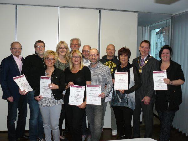 Verleihung des Qualitätssiegels 2016 der Friseur-Innung Dortmund und Lünen