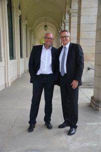 Rüdiger Lugert (Vorsitzender FV WDVS) und Christoph Dorn (Vorsitzender IWM) freuen sich über die gelungene Fusion beider Verbände (v.l.n.r.); Foto: VDPM