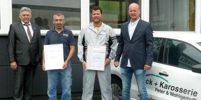 v. links: Volker Walters, Thomas Peter, Andreas Wohlgemuth, Karsten Zimmer