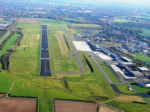 Luftbild Start- und Landebahn Copyright: Dortmund Airport