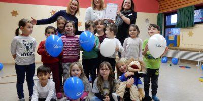 Auszeichnung für die Kinder vom evangelischen Kindergarten Kirchderne in Dortmund. Quelle: IKK classic