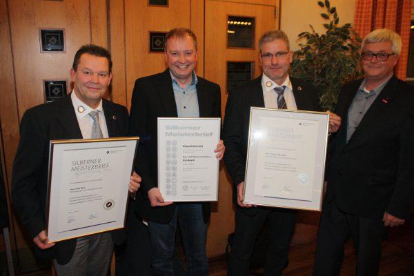 Ehrungen auf der Herbstmitgliederversammlung der Innung für Sanitär-, Heizungs- und Klimatechnik Dortmund und Lünen