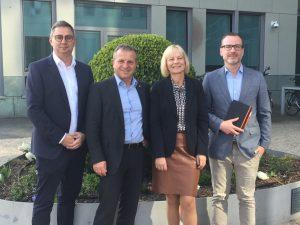 Im Dialog bei der Fachgruppen-Sitzung: Torsten Wesche, Thomas Peckruhn, Antje Woltermann, Daniel Breves (v.l.). Foto: ProMotor