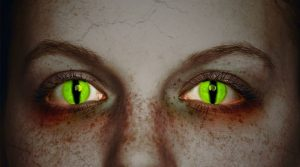 Farbige Kontaktlinse Halloween | Quelle: Kuratorium Gutes Sehen e. V.