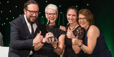 Die Macher der Kampagne #wasmitautos (v. l.): Gerald Neu (snoopmedia), Birgit Behrens (ZDK), Nora El Makrini (snoopmedia), Claudia Kefferpütz (ZDK). Foto: ProMotor
