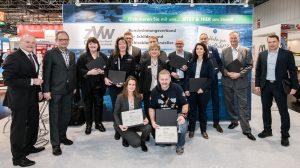 Übergabe der Ehrenurkunden für die Fördermitglieder des ZVW auf der diesjährigen viscom 2019 in Düsseldorf (Quelle: viscom)