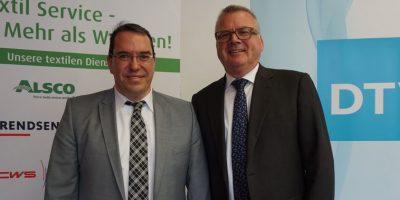Dr. Thomas Neyers (WIRTEX, links) und Friedrich Eberhard (DTV, rechts).
